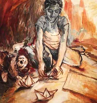 'Paper, The Origin of Creativity' - Nayab Noor - Exhibition 'Memoir' at Grandeur Art Gallery, Karachi