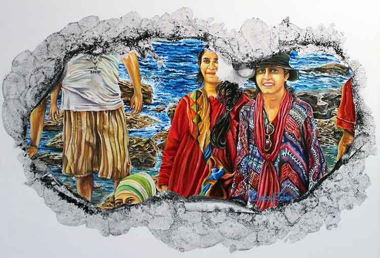 'Dear Diary' - Batool Zehra - Exhibition 'Memoir' at Grandeur Art Gallery, Karachi