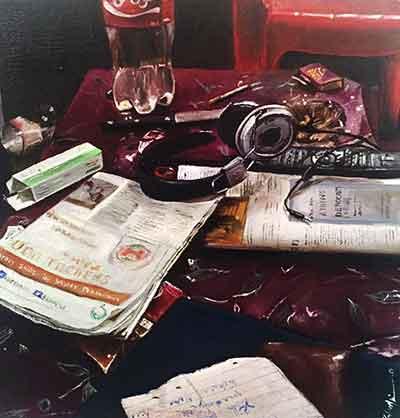 Realistic imagery by Zahra Asim - Exhibition 'Memoir' at Grandeur Art Gallery, Karachi