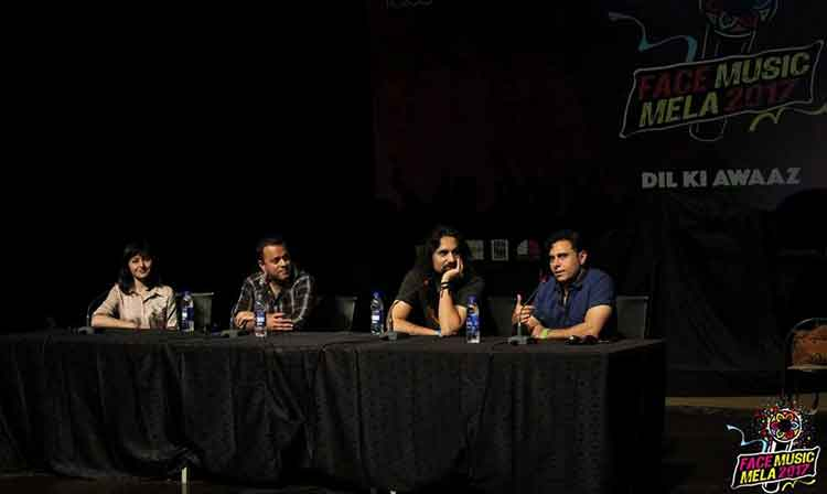 A panel discussion on the future of the Pakistani music industry - FACE Music Mela 2017 at PNCA, Islamabad