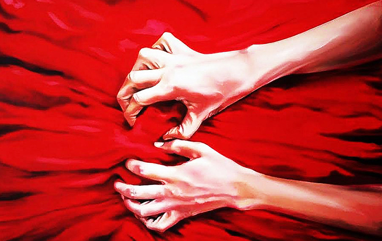 'Helping Hand' by Sana Saeed - Facial Recognition Art Exhibition by My Art World