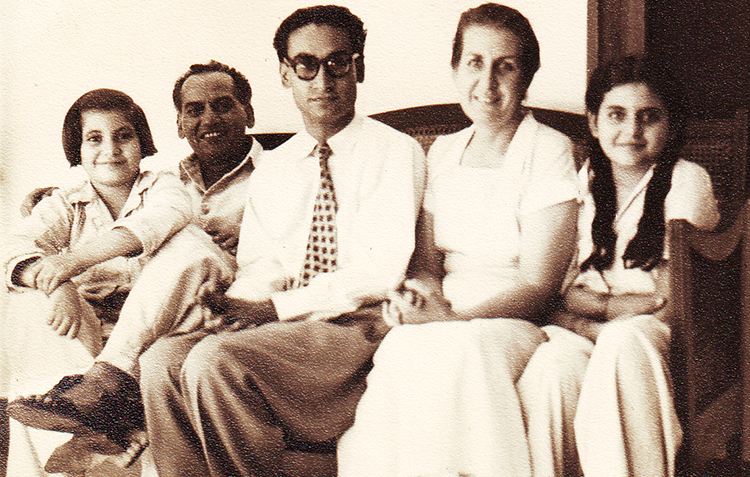 Faiz with his family - Empress Road, 1955 - Faiz Ghar - Resurrecting Our Language, Art and Culture