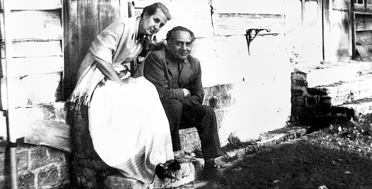 Faiz Ahmad Faiz with his wife Alys - Faiz International Festival 2015