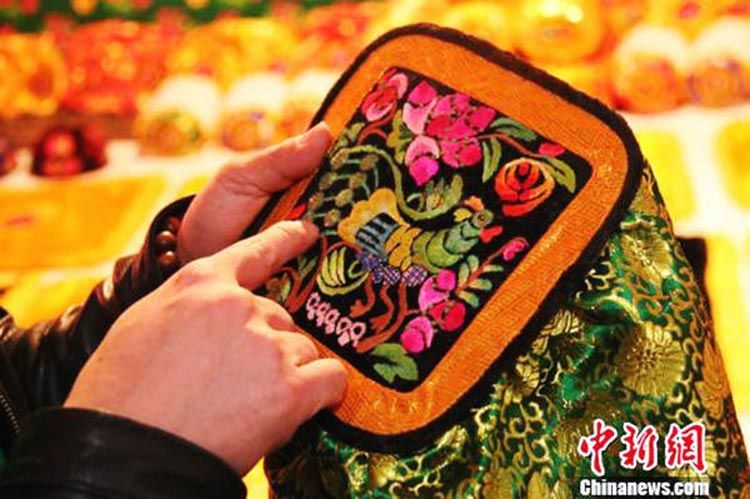 Traditional Hami Uygur embroidery (Source: China Daily) - Female Embroiderers of Xinjiang