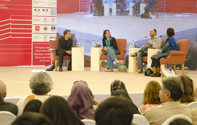 Session: Political Engagement in the Pakistani English Novel Speakers: Nadeem Aslam, Kamila Shamsie, Mohsin Hamid, and Muneeza Shamsie - FESTIVAL BY THE SEA