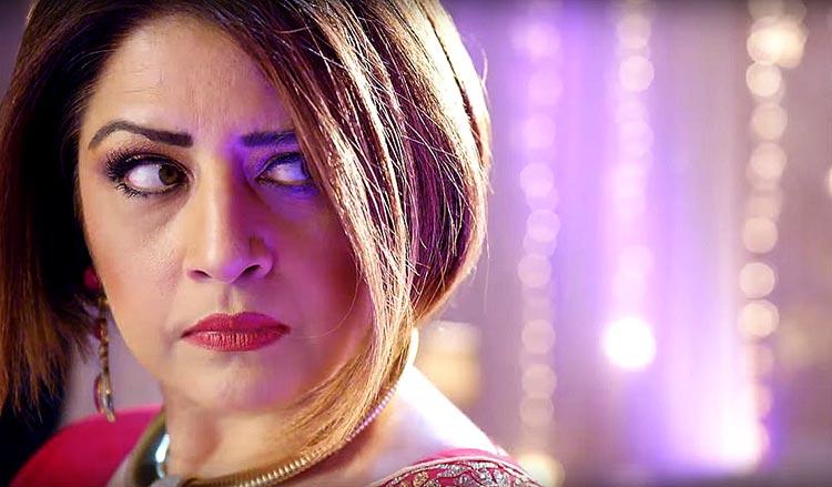 Film 'Chain Aye Na' - Atiqa Odho as Ruba's mother