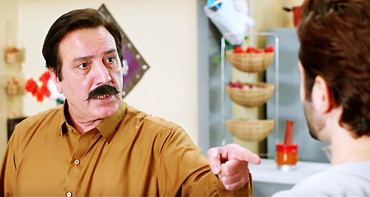 Javed Sheikh as Ali's Father - Film Mehrunisa V Lub U Review