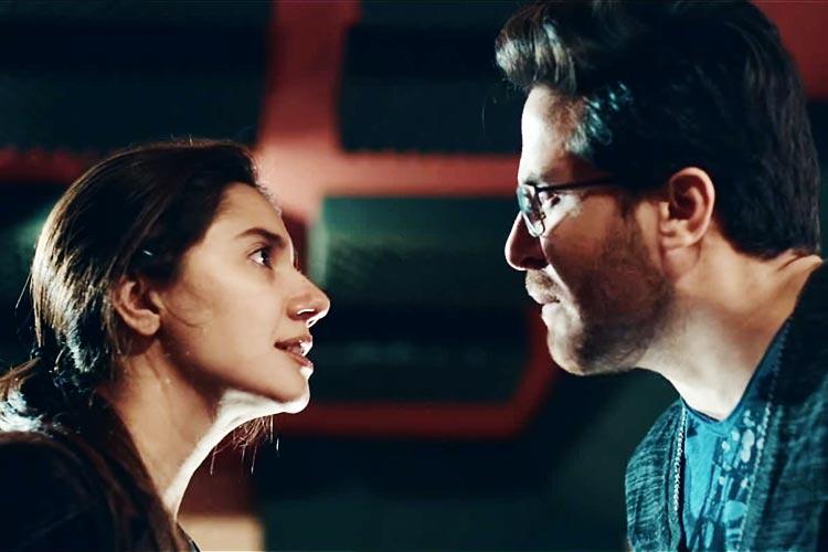 Mahira Khan as Sara and Haroon Shahid as Aami