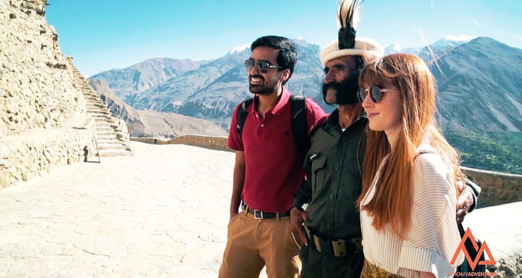 Co-Founder Komail Naqvi with Rachael, the star of FMA's viral video - Find My Adventure: The New Players of LUMS in the Pakistani Tourism Industry
