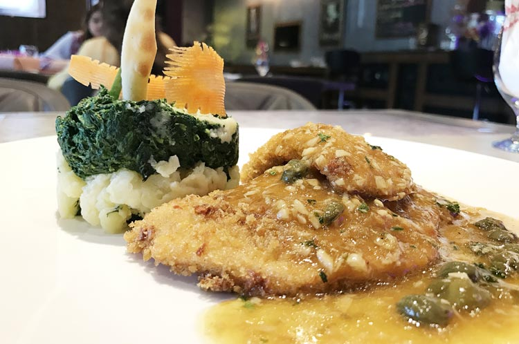 Crusted Chicken with Lime and Caper Sauce
