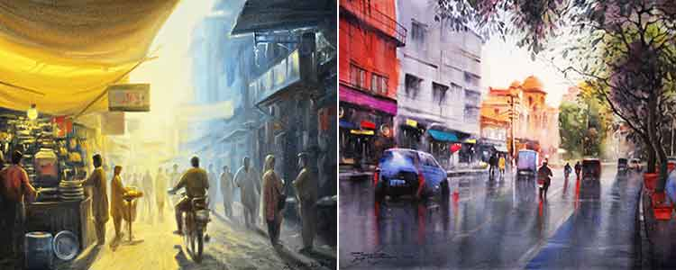 Zulfiqar Ali Zulfi and Sarfraz Musawir - Gallery 6 Exhibition 'Scapes of Pakistan'