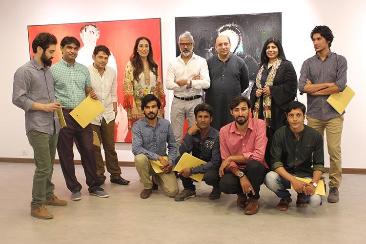 From left to right (above) - Aziz Meer, Aqeel Solangi, Abdul Ali Hyder, Noshi Qadir, R.M. Naeem, Aasim Akhtar, Sumera Jawad and Saddam Murad. (below) Imran Ali Kazmi, Shamsuddin Tanwri and Javed Mughal