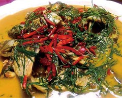 Habitants in Xinjiang favor the Spicy Taste of Tarragon Leaves