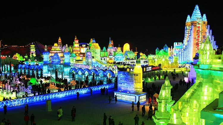 Ice Lantern Show at Zhaolin Park