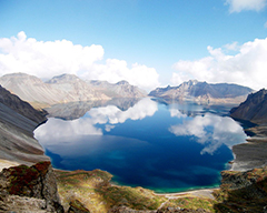Heavenly Lake in Mid-Tian Shan Mountains