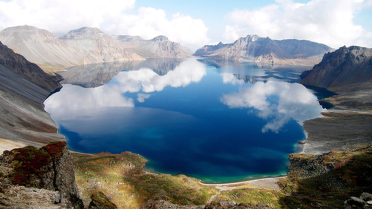 Heavenly Lake in Tian Shan Mountains - Heavenly Lake in Mid-Tian Shan Mountains