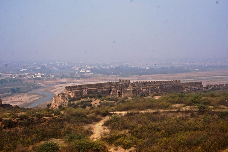 A distant view of Rohtas Fort