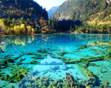 Huanglong Nature Reserve or Yellow Dragon, China