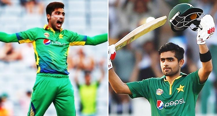 Mohammad Amir (L), Babar Azam (R) - ICC Champions Trophy 2017, India vs Pakistan Match Preview by a Pakistani Cricket Expert