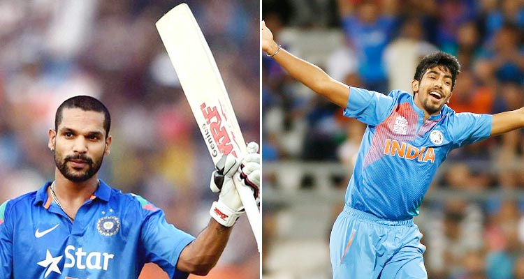 Shikhar Dhawan (L), Jasprit Bumrah (R) - ICC Champions Trophy 2017, India vs Pakistan Match Preview by a Pakistani Cricket Expert