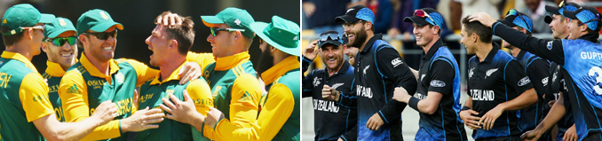 1st Semi Final, New Zealand vs South Africa - ICC World Cup 2015 Semi Finals: New Zealand vs South Africa and Australia vs India