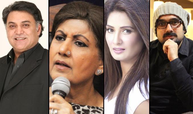 (l-r) Asif Raza Mir, Bahar Begum, Jia Ali and Yasir Jaswal - ILF 2015 - Day 2: Pakistani Cinema: Kal aur Aaj