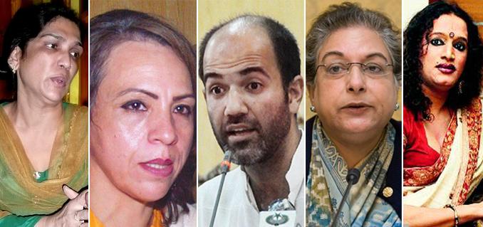 (l-r) Almas Bobby, Farzana Bari, Aasim Sajjad Akhtar, Hina Jilani and Laxmi Tripathi - ILF 2015 - Day 3: Rights and Wrongs of Transgender Issues