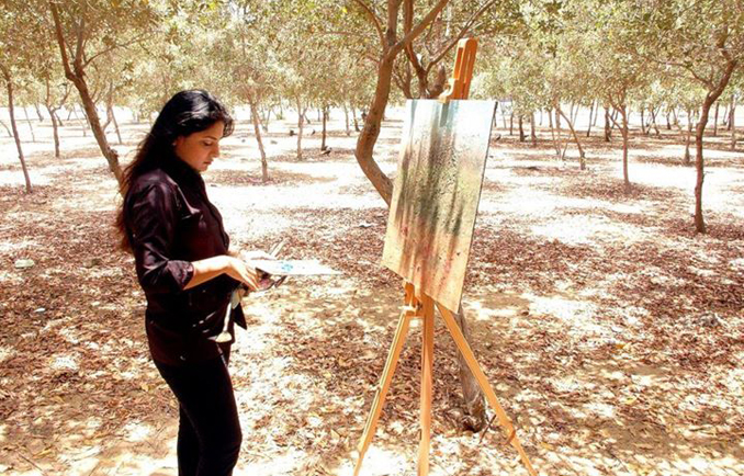 The artist at Clifton, Karachi - IN, AT AND AROUND WITH SORAYA SIKANDER