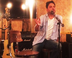 Indian Comedian Sanjay Rajoura at Base Rock Cafe, Karachi