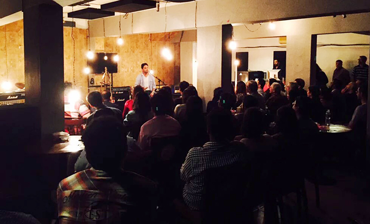 Sanjay Rajoura was met with a full house at the Base Rock Cafe - Indian Comedian Sanjay Rajoura at Base Rock Cafe, Karachi