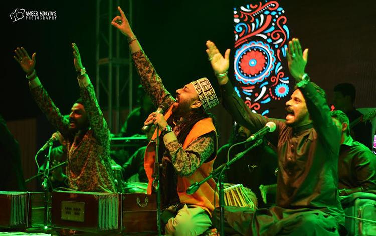Afzal Sabri performing at the Qawwali night - Inter-IBA Drama Competition 2016