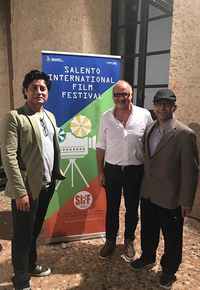 Farhan Alam and team after Saawan won the Salento International Film Festival Award for Best Film and Best Soundtrack