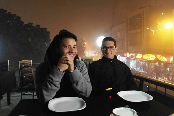 (l-r) Sergio and Henrique at Tandoor Restaurant, Lahore - Interview with Two Interns from Brazil and Colombia about Pakistan