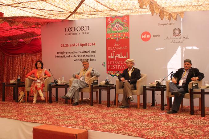 (l-r) Nosheen Ali, Jamshed Dukhi, Nazir Bulbul and Aslam Saher - Islamabad Literature Festival - Day II
