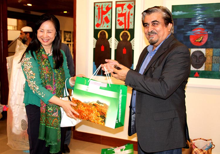 Jamal Shah with Madame Bao Jiqing, wife of the Chinese Ambassador - Jamal Shah's PNCA: A Revolutionary Approach to Promoting Artists and Culture