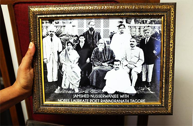 Jamshed Nusserwanji with Rabindarnath Tagore