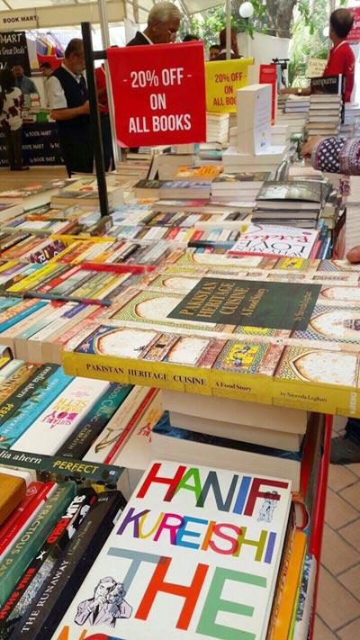Book stalls at KLF