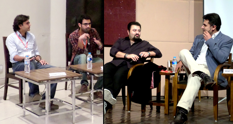 (l-r) Wajahat Malik, Jawad Sharif, Ahmed Ali Butt and Vasay Chaudhry - Khayaal Festival Day 2 - A New Era of Filmmaking in Pakistan
