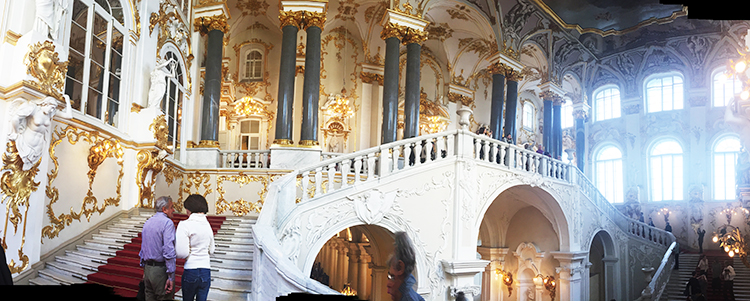 The Jordan Staircase, the Hermitage - Kremlin and the Hermitage