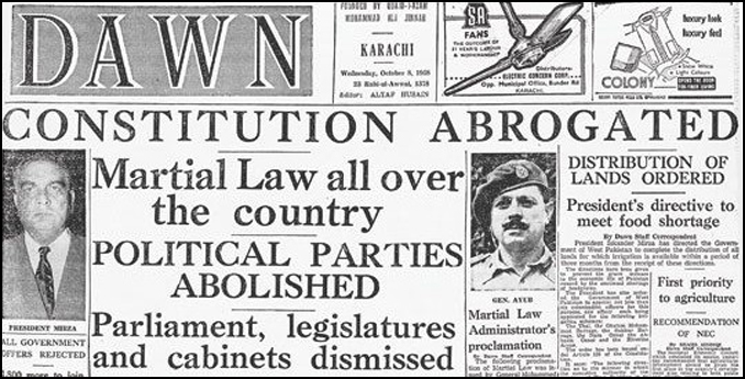 Martial Law Declared in Pakistan on 7th October, 1958 - Lahore as a Cultural Center