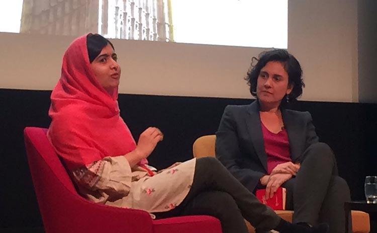 Malala Yousufzai with Kamila Shamsie
