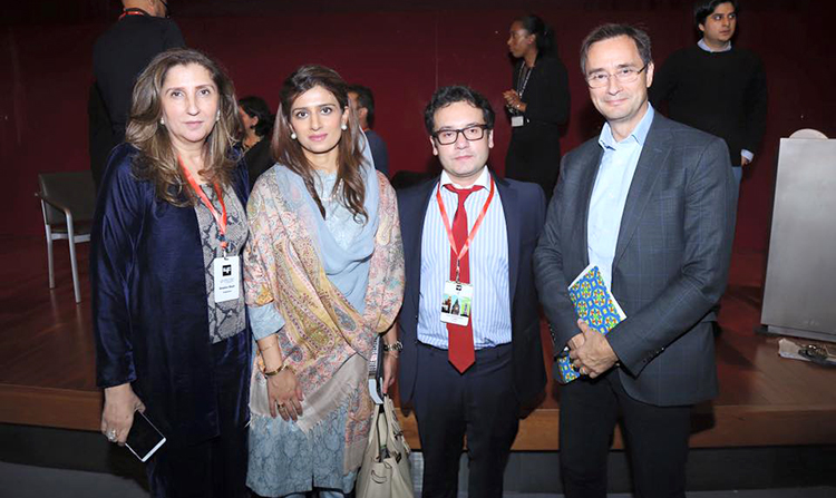 (L-R) Anila Shah, Hina Rabbani Khar, Razi Ahmed and Dr. Robin Niblett at LLF London - LLF London 2016