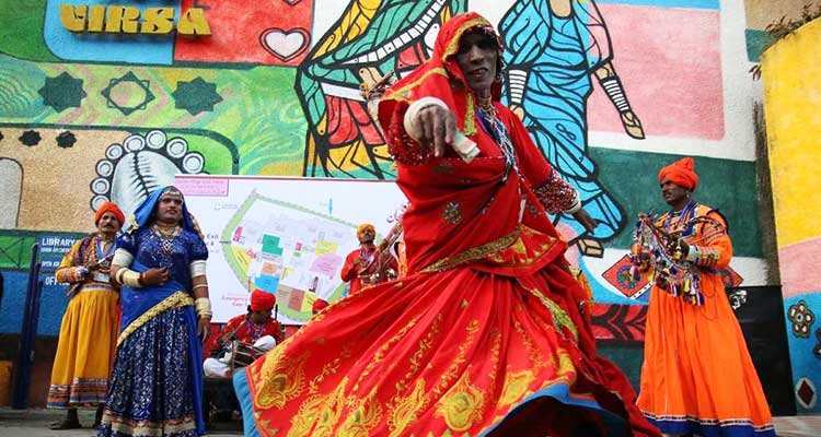Sindhi folk dance on the opening day of Lok Mela 2017 (source: 'Lok Virsa', Facebook) - Lok Mela 2017 at Lok Virsa, Islamabad