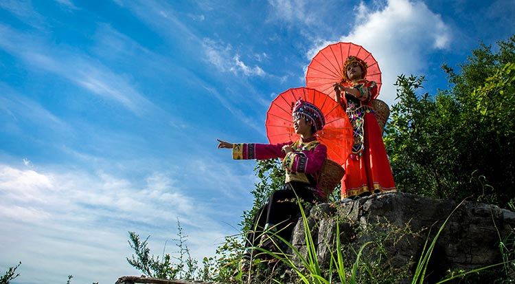 Tujia people - Longgang Scenic Area, Yunyang, National Geological Park