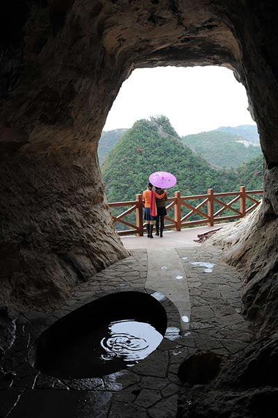 Moon Reflecting Cave - Longgang Scenic Area, Yunyang, National Geological Park
