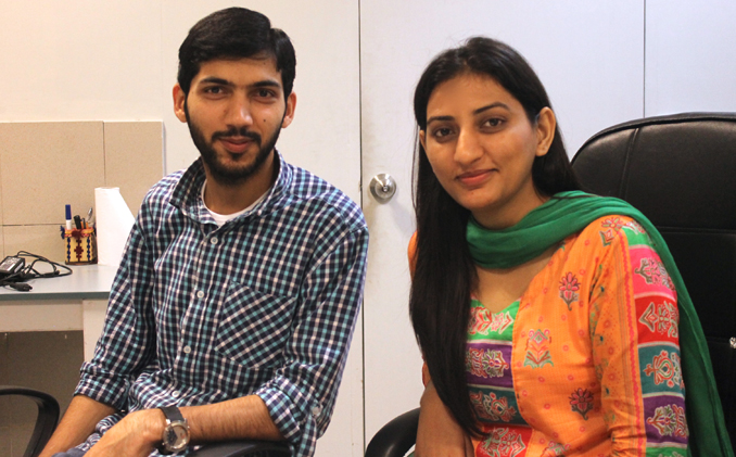 Markhor co-founders Waqas Ali and Sidra Qasim (Photography by author) - Markhor: Preserving an Ancient Shoe-Making Craft