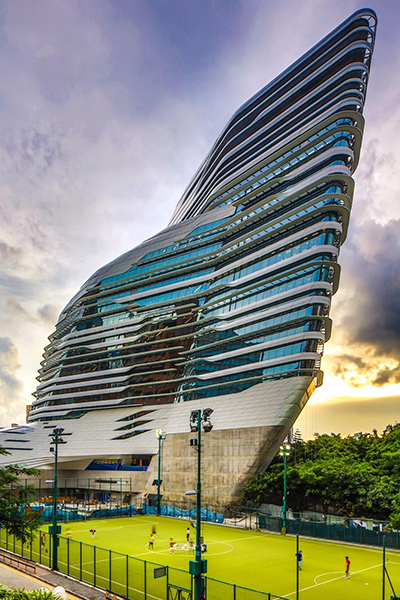 Amazing Innovation Tower Of Hong Kong Polytechnic University