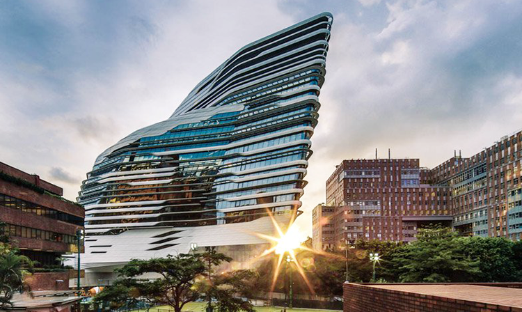 Lovely Jockey Club Innovation Tower At Hong Kong Polytechnic University (source:  Edmon Leong)   Idea