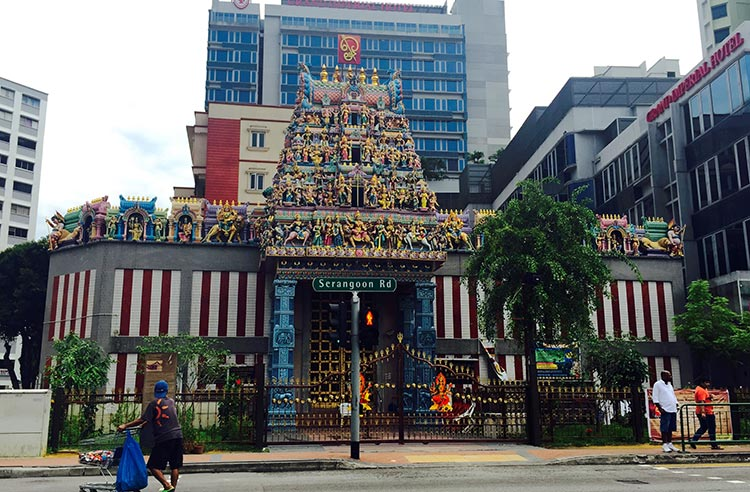 Sri Veeramakaliamman Temple at Serangoon Road, Little India - Multi-Ethnic Singapore