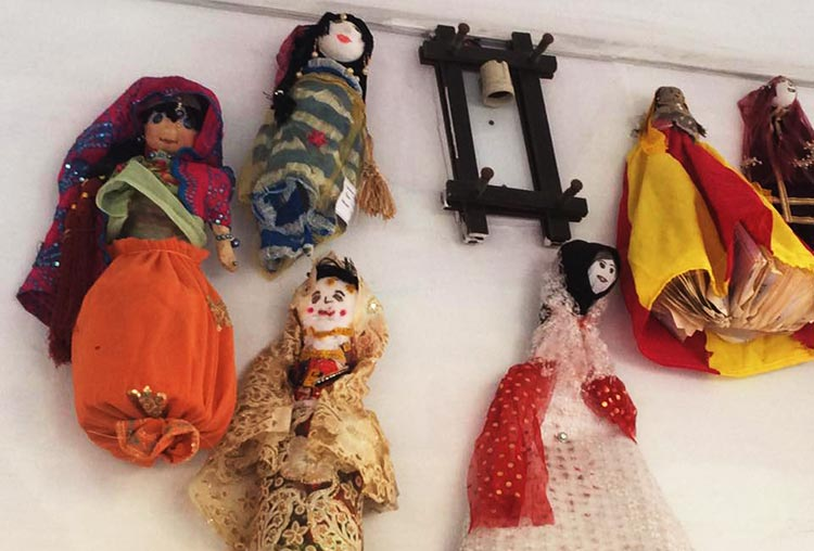 Dolls on the walls